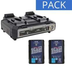 IDX 2 Batteries Endura DUO-C198 & Chargeur VL-2000S - Kit Batteries et Chargeur