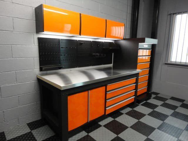 ensemble orange damier gris et noir