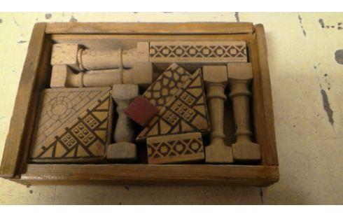 jeu de construction bois ancien