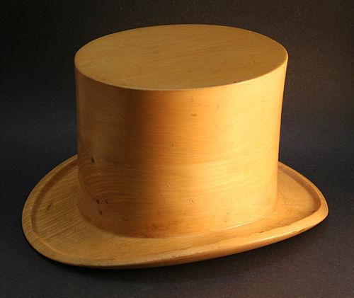 Carved Wooden Top Hat Item 1325088