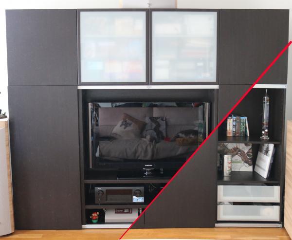 grand meuble tv porte coulissantes bibliotheques troc de gones
