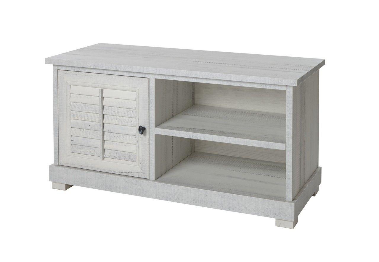meuble tv campagne chic bois blanchi 128 cm luberon