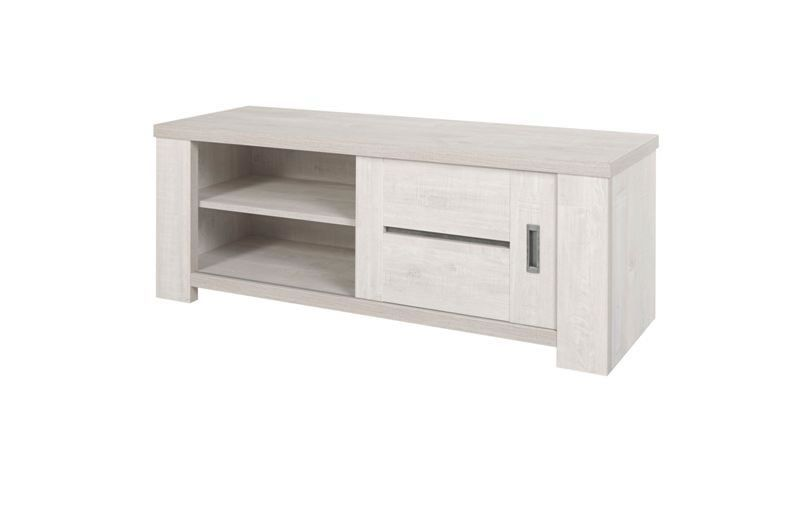 meuble tv chene blanchi drancy 130 cm