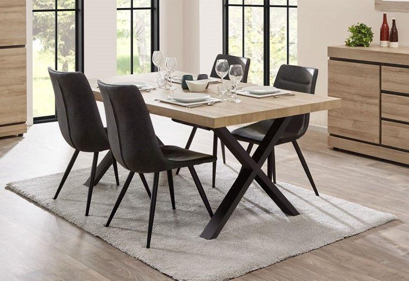 table de salle a manger rectangulaire pieds en croix 200 cm tayson