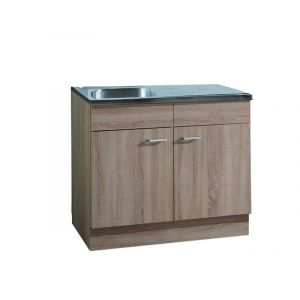 meuble haut de cuisine kika 100 cm chene