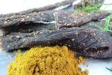 Biltong, Curry als Stiks, eigene Herstellung! 100 g Packung. 40,- €/Kg