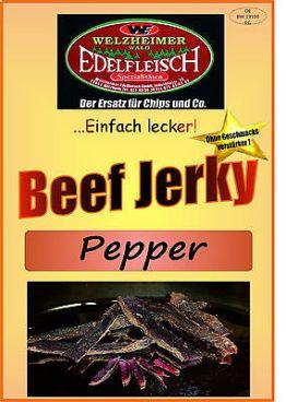 1 Kg Beef Jerky Trockenfleisch  Pfeffer Würzung