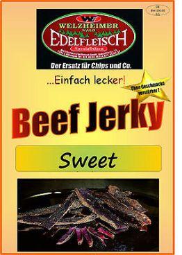1 Kg Beef Jerky Trockenfleisch Sweet & Sour Würzung