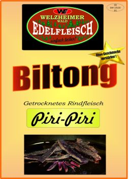 1 Kg Biltong  Beef Jerky   Piri-Piri Würzung