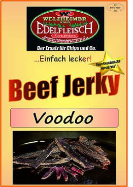 1 Kg Biltong Trockenfleisch Beef Jerky Voodoo Würzung