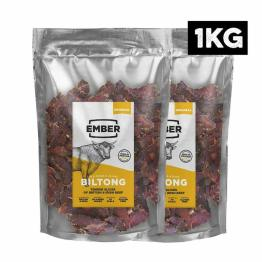 Ember Biltong 1KG Großbeutel - Beef Jerky Original - Proteinreicher Snack - Ori