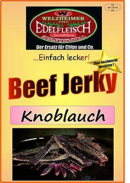 100 Gramm Biltong Beef Jerky  Knoblauch Probierpackung original Namibia am Stück