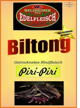 500 Gramm Beef Jerky Biltong  Piri-Piri Würzung Am Stück / STIX