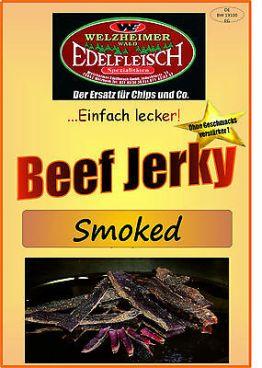 500 Gramm Biltong Trockenfleisch  SMOKED  -leicht geräuchert-  Am Stück / STIX