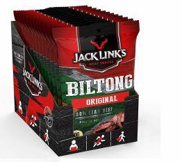 JACK LINK´S Biltong Original 12x70g Trockenfleisch Rind Protein Fitnesssnack