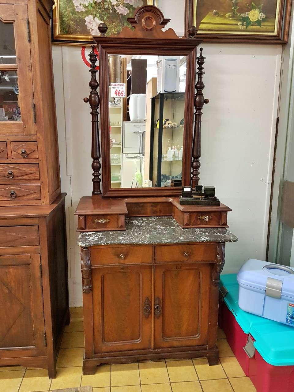 Frisierkommode Dielenschrank Waschtisch antik