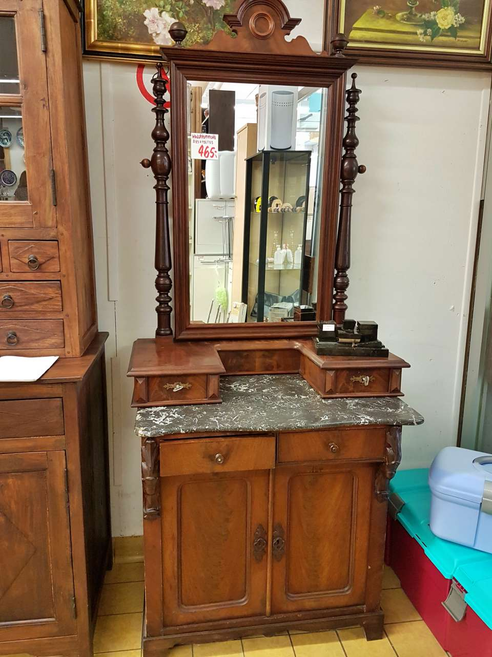 Antike Möbel Waschtisch Schminktisch Nussbaum Gründerzeit