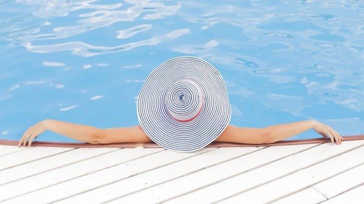 a woman relaxina woman relaxing during summer during summer