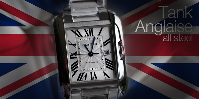 Cartier's Tank Anglaise Steel on Steel, will arrive in the Boutiques this week!