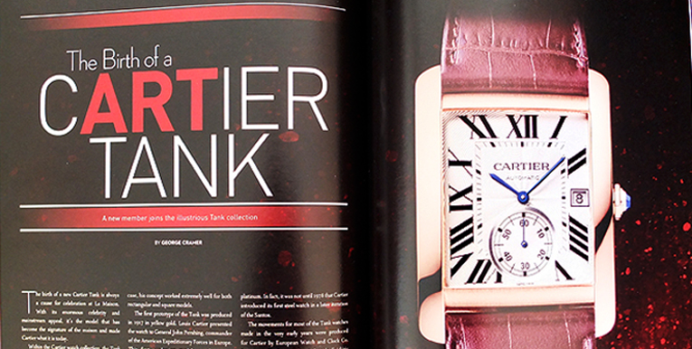 REVOLUTION Magazine; My Cartier Tank Article in the current issue!