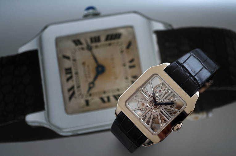 Stripped To The Bone; Cartier's Santos Dumont!