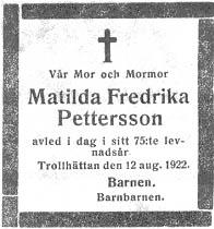 Matilda Fredrika Pettersson