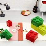Lego Opbevaring Kasse 1 Rund Rod