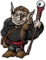 Khayd'haik, a Trolf Wizard, half Troll, half Elf