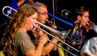 Trombone Kellie with the Northern Rivers Big Band: SILVER BLUE AND GOLD
