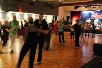Trombone Kellie & the Muddy Roaders with Swingers dancing at South Tweed Sports