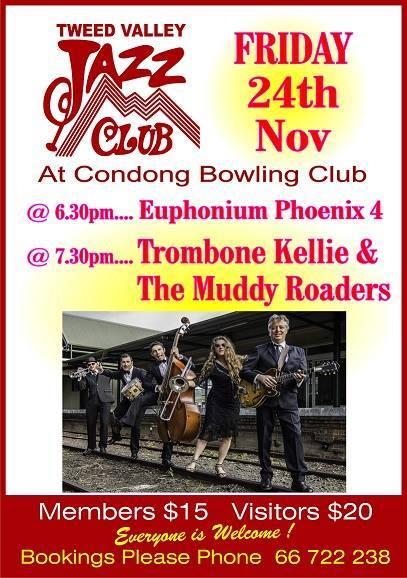 Trombone Kellie & the Muddy Roaders - Tweed Valley Jazz Club
