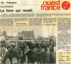 Ouest-France - Renaissance de la foire de Commana