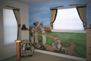 The Base Ball BedCustom Designed Furniture Painted