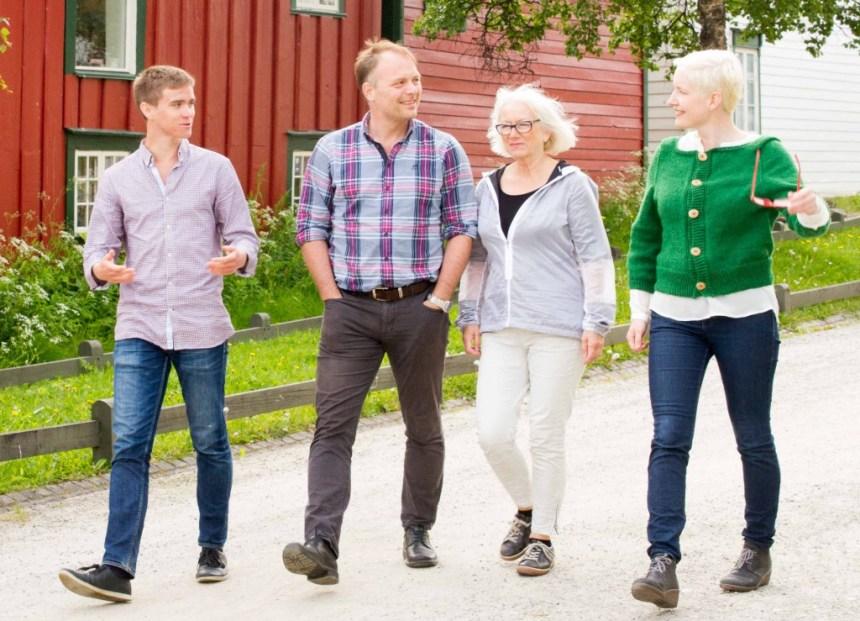 Desse fire skal representere Tromsø SV i kommunestyret i perioden 2015 til 2019. Foto: Stein Valkoinen