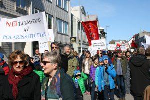 Eit glimt frå 1. maifeiringa i Tromsø i fjor