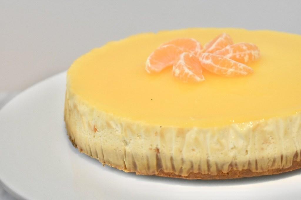 Mandarijnencheesecake met kruidnotenbodem