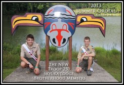 2013 Skyuka Lodge Troop 250 Brotherhood