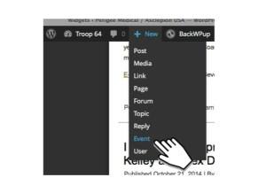wp edit menu