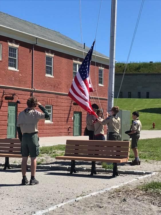 raising the flags