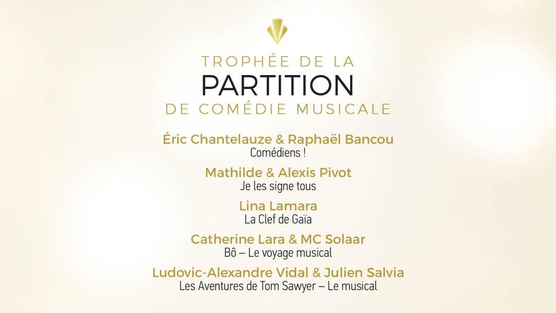 Trophée de la Partition de Comédie Musicale