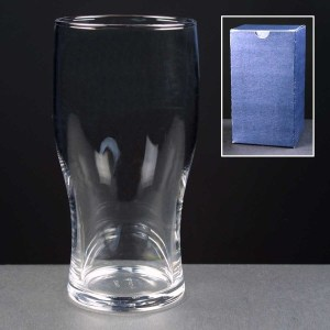 Engraved Pint Beer Glasses Supplied In A Blue Cardboard Gift Box. Price Includes Engraving.
