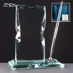 Executive Ice Block With Pen Glass Awards Supplied In A Branded Box. Price Includes Engraving