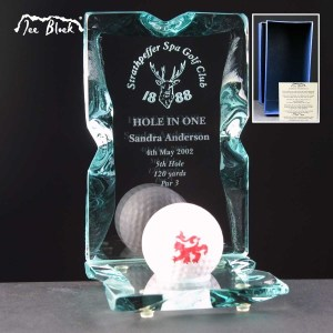 Hole In One Ice Block Golf Trophies