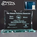 Landscape Rock Tablet Glass Awards Supplied In A Branded Box. Price Includes Engraving.