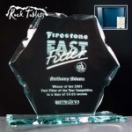 Hexagon Rock Tablet Glass Awards. Supplied In A Branded Box. Price Includes Engraving.