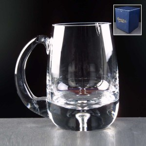 Balmoral Bubble Based Engraved Glass Tankards Supplied In A Blue Cardboard Box. Price Includes Engraving.