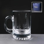 Balmoral Engraved Glass Tankards In Blue Cardboard Box. Price Includes Engraving.