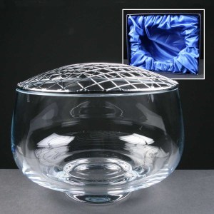 Balmoral Glass Engraved Rose Bowls Supplied In A Satin Lined Presentation Box. Price Includes Engraving.