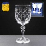 2x Earle Crystal Engraved Wine Glasses With Panel For Engraving In Presentation Box 1