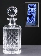 Earle Crystal Engraved Crystal Decanters With Panel For Engraving Supplied In A Presentation Box. Price Includes Engraving.